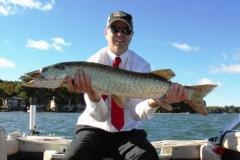 Clark Lozier, Portage, MI, 47 1/2-incher (personal best), Austin Lake, MI.