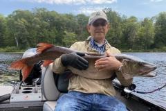 Harold Jacobsohn, Mequon, WI, 53 1/4-incher, Vilas County, WI, lake.
