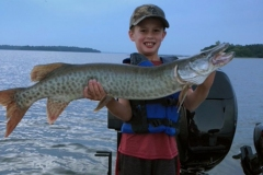 Jack Manske, age 8, Algona, IA, 44-incher (first musky), Leech Lake, MN.