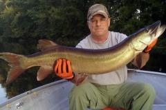 Joe Romano, Cicero, NY, 49-incher (first musky), Black Lake, NY.