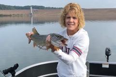 Kim Swackhammer, Kersey, PA, 29-inch tiger, Curwensville Lake, PA.