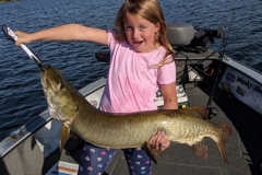 Lia Krueger, West Fargo, ND, 42 1/2-incher (first musky), Beers Lake, MN.