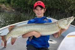 Nickolas Dokuchie, age 12, Waldhof, ON, 48-incher, Eagle Lake, ON.