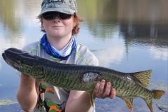 Robbie Henderson, 12, Lake Zurich, IL, 30-inch tiger (first tiger), Lake Barrington, IL.