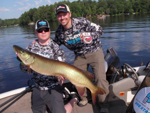 The largest musky of the Eagle River PMTT measured 44 inches and was caught by the team of Todd Reineking of Saukville, Wisconsin, and Darren Ballke of Fredonia, Wisconsin.