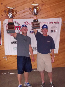 Andrew and Bob Judnick were the champs of the PMTT's qualifier on Lake Vermilion.